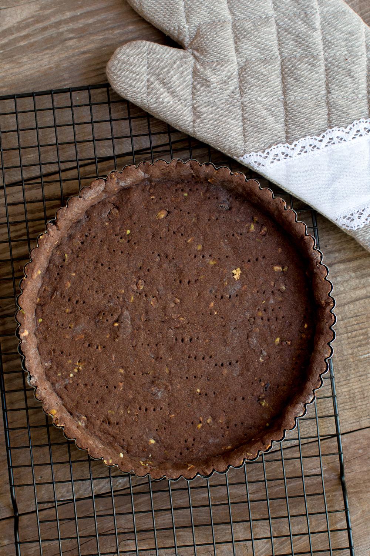 Pistachio Chocolate Crust Tart Crust