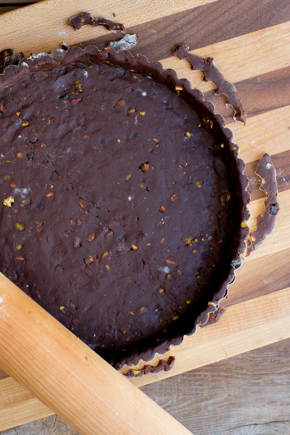 Chocolate Pistachio Tart Shell