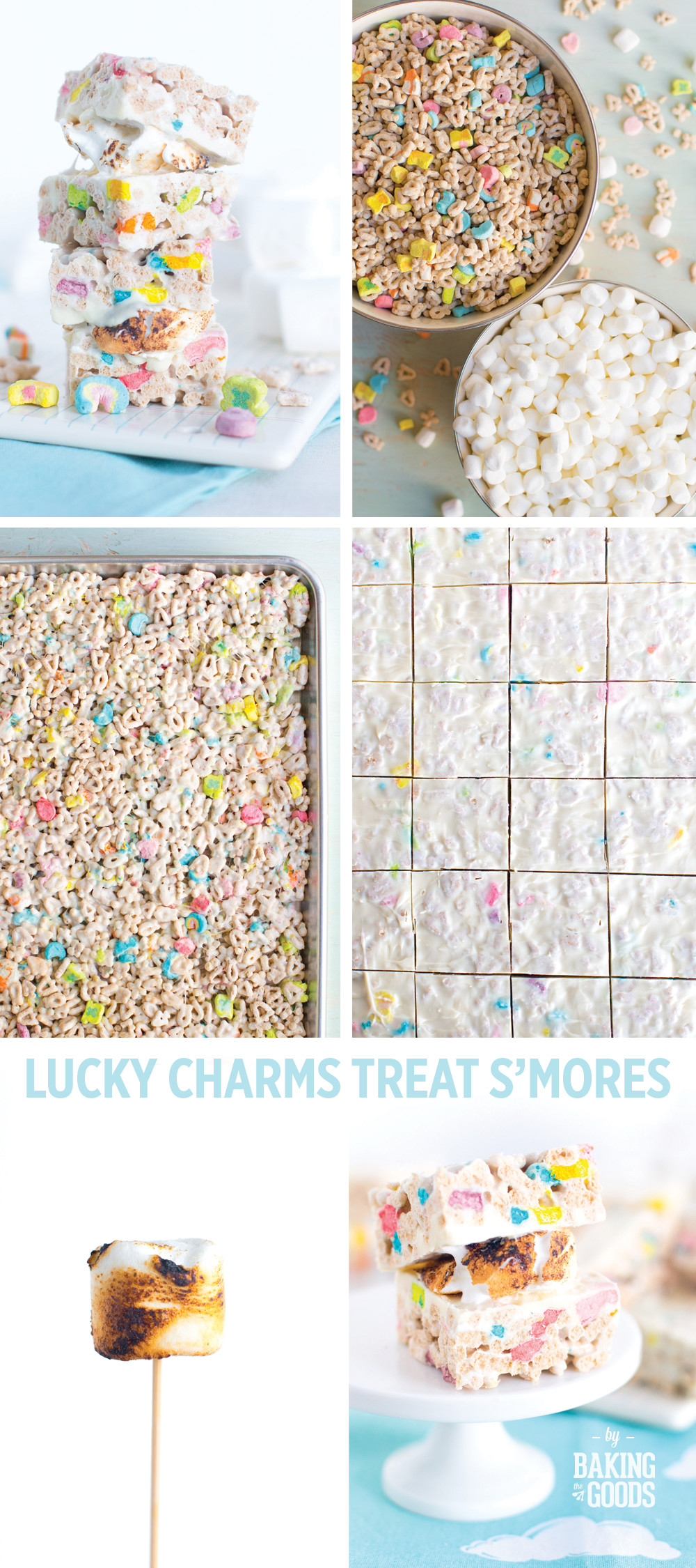 Lucky Charms Treat S'mores, step-by-step