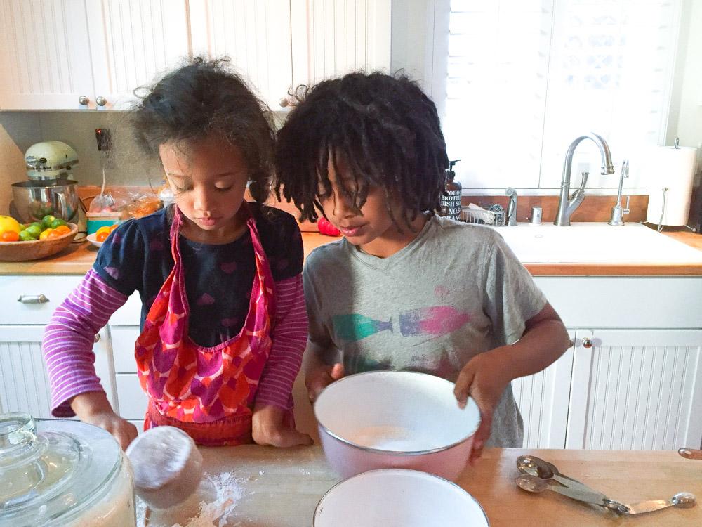 Cuzzies making pancakes