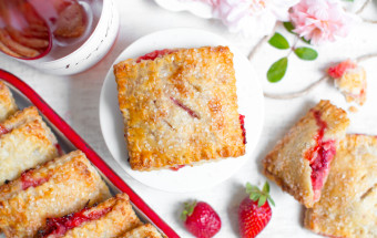 Strawberry Rhubarb Hand Pies with Pink Peppercorn Crust.