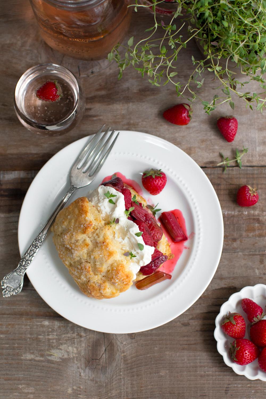 Strawberry Rhubarb Shortcake with Whipped Mascarpone-16