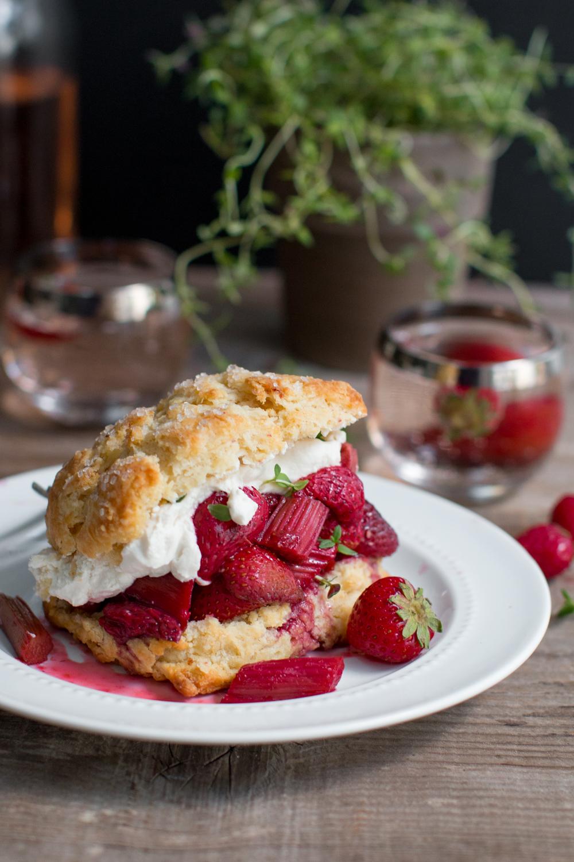 Strawberry Rhubarb Shortcake with Whipped Mascarpone-8