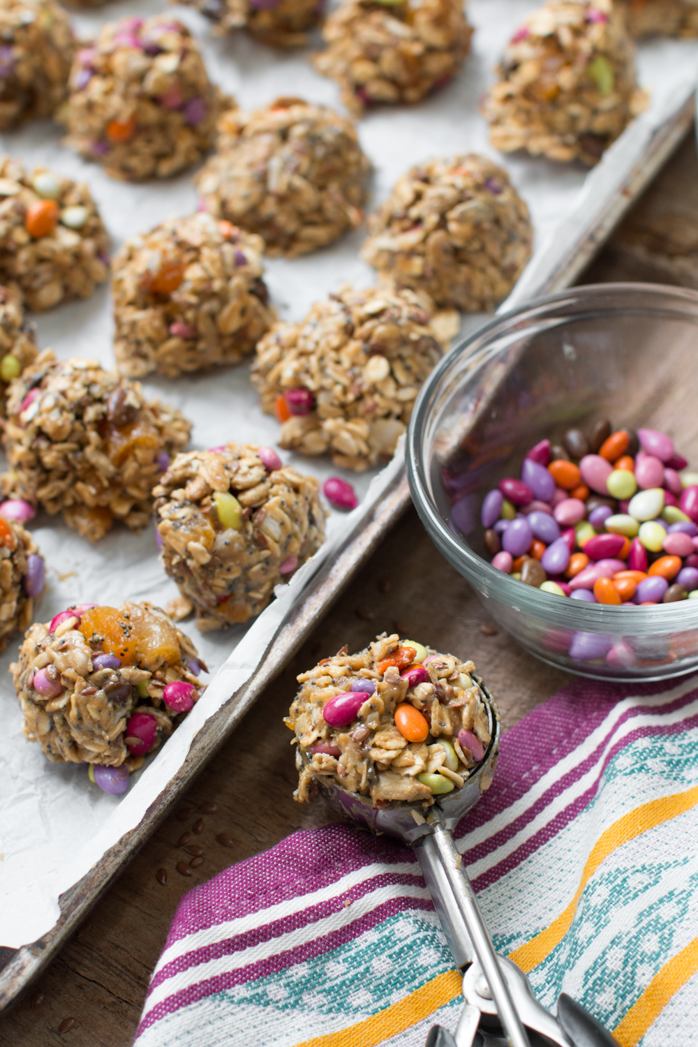 Scooping Sunflower Seed Energy Balls