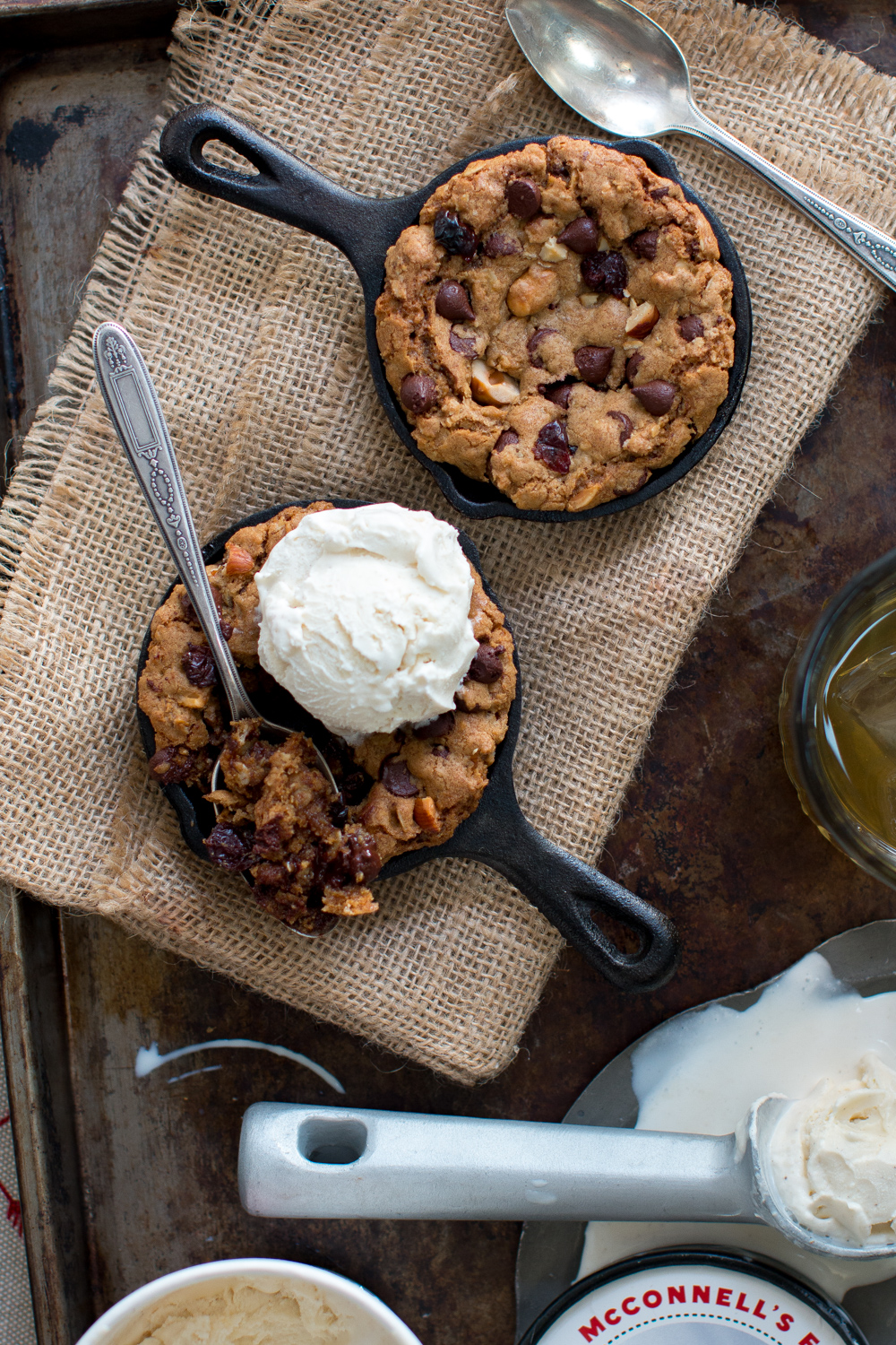 Oregon Trail Mini Skillet Cookies