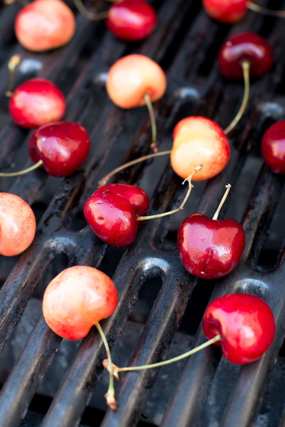 grilling whole cherries