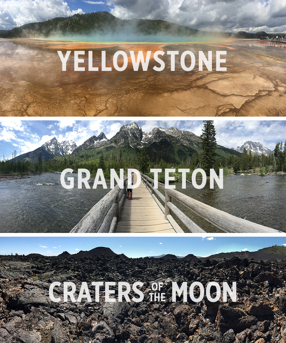 Yellowstone, Grand-Teton and Craters of the Moon