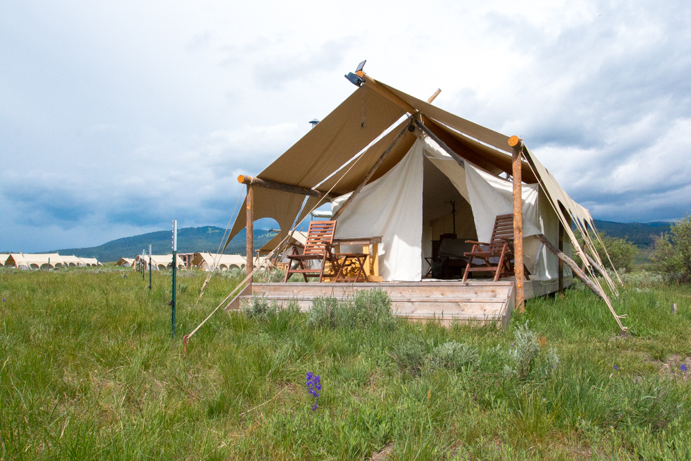 Roadtrippin' Yellowstone, Grand-Teton and Beyond - Safari tent at Yellowstone Under Canvas in West Yellowstone