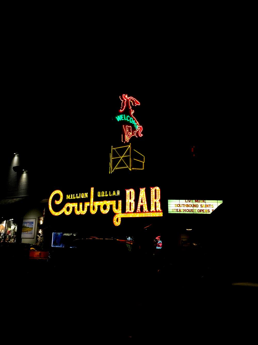 Million Dollar Cowboy Bar in Jackson, WY