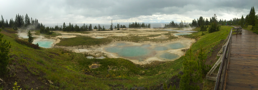 West Thumb on Yellowstone Lake in Yellowstone
