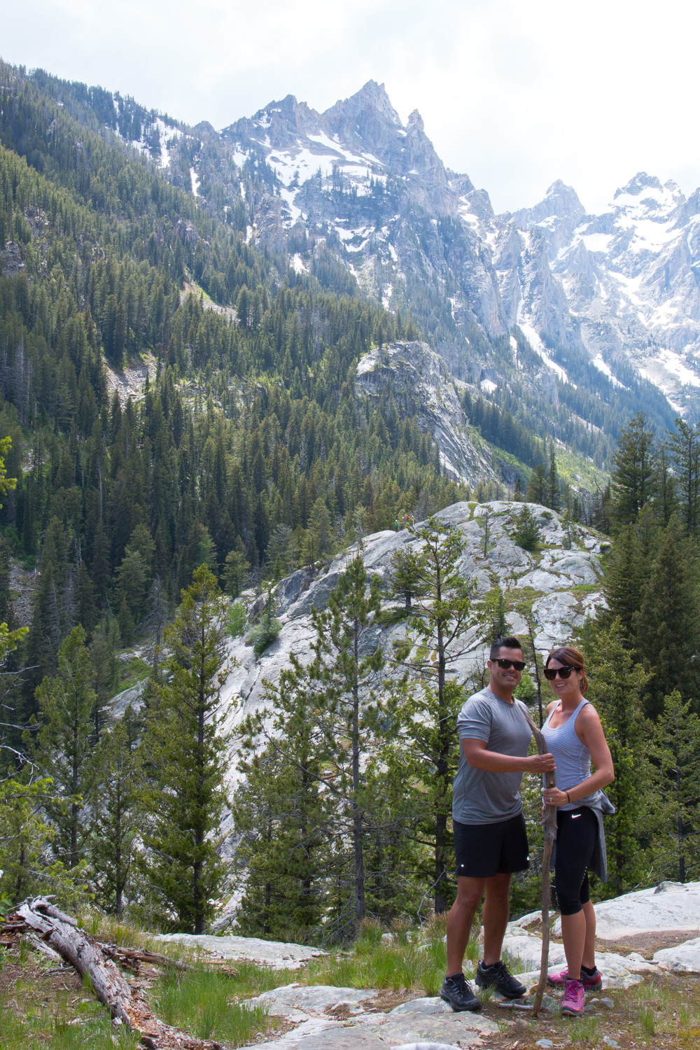 Up above Inspiration Point along the Cascade Canyon Trail in Grand Teton NP