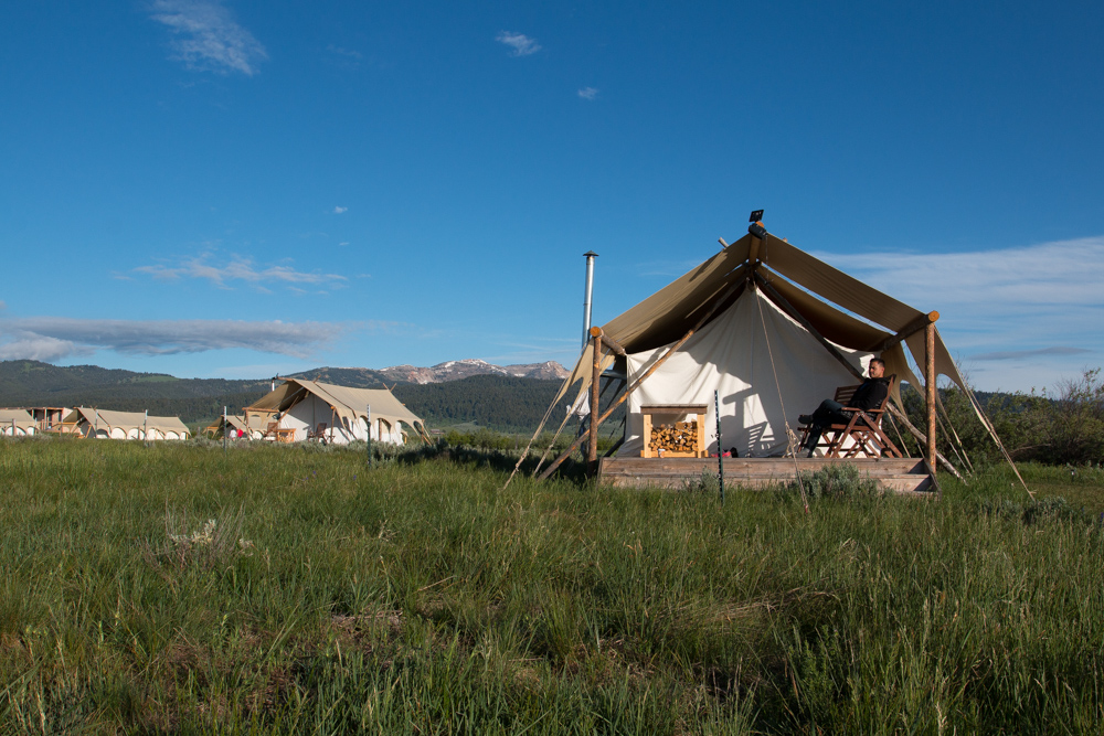 Roadtrippin' Yellowstone, Grand-Teton and Beyond - Tent at Yellowstone Under Canvas