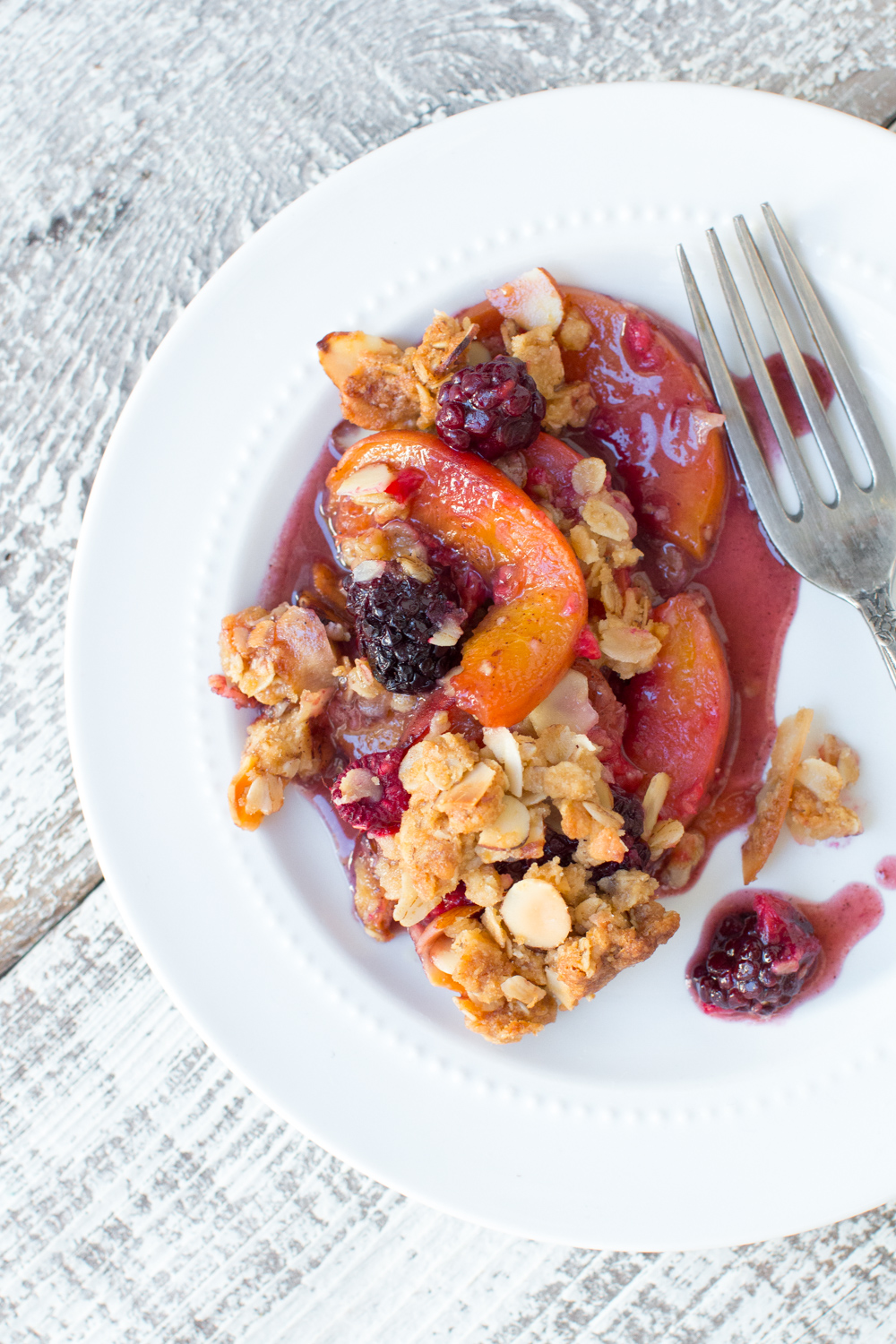 Peach Berry Crisp, it's the simple things that are the most delicious