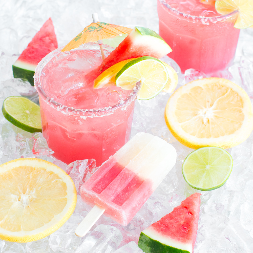 Watermelon Palomas and Watermelon Paloma Popsicles