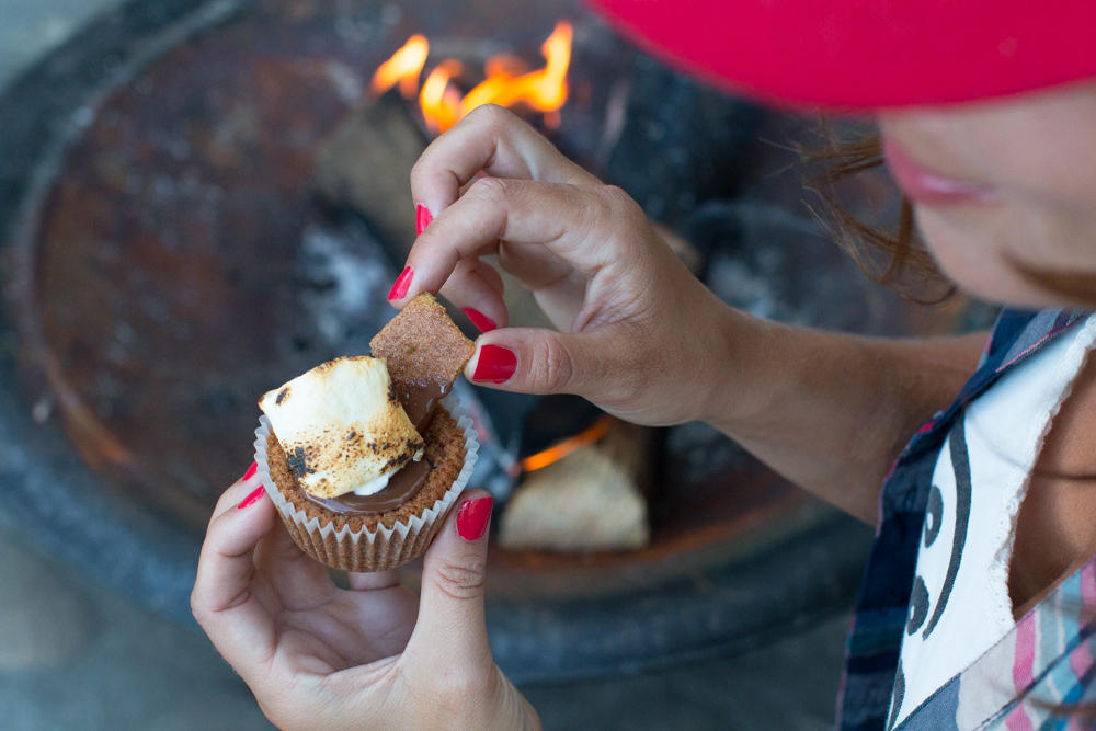 Nutella S'mores Cookie Cups add graham cracker