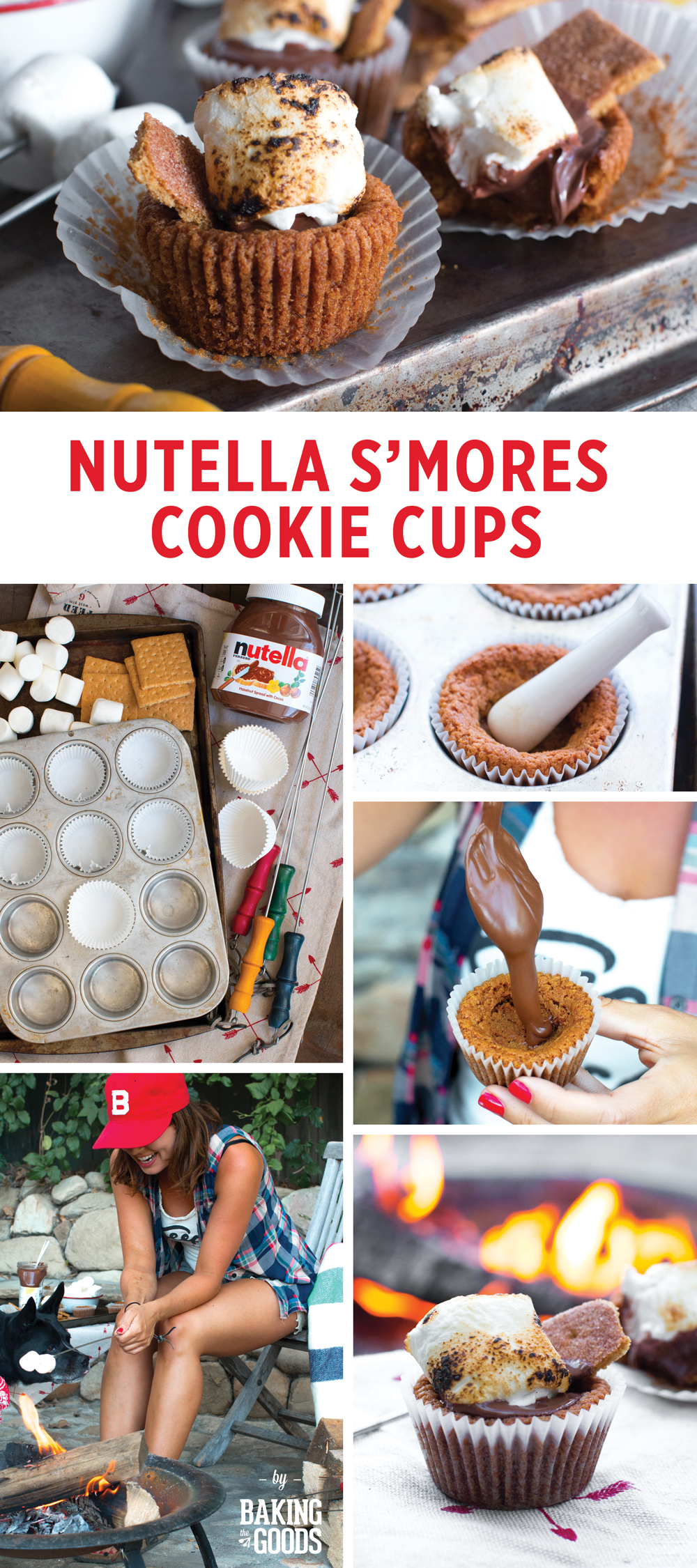 Nutella S'mores Cookie Cups by Baking The Goods