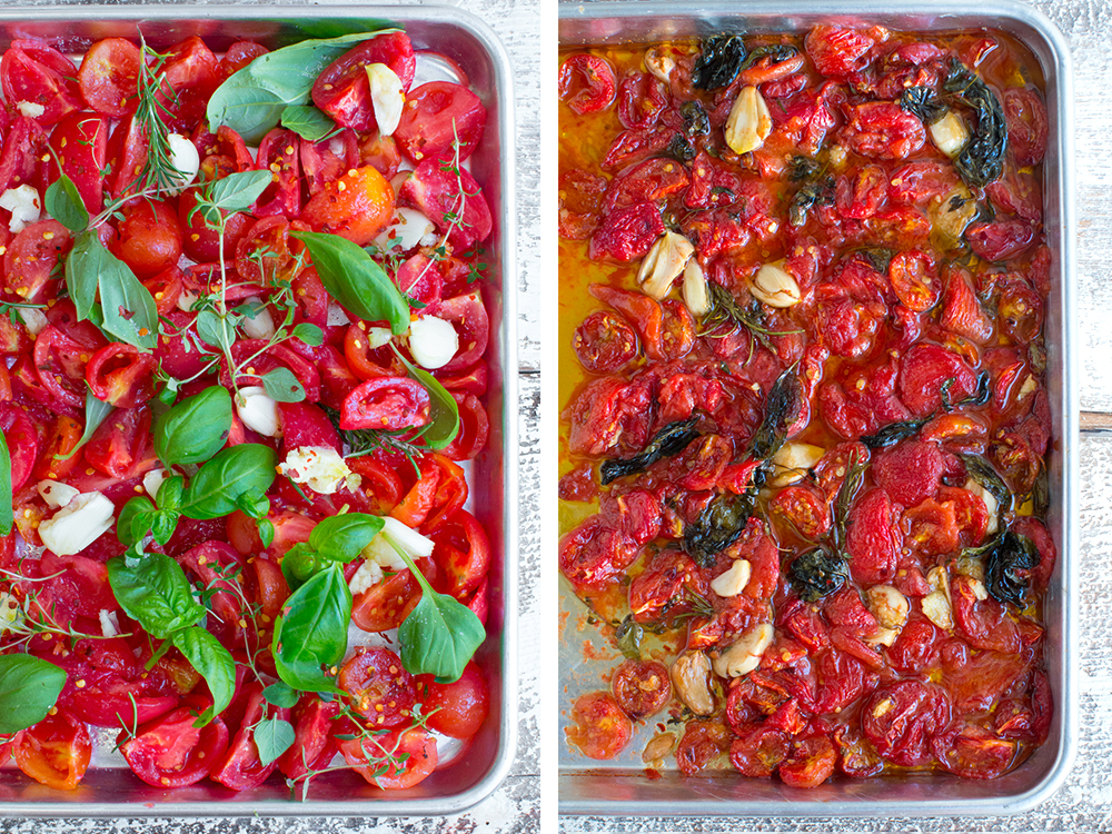 Tomato Confit - Pre Bake/Post Bake.