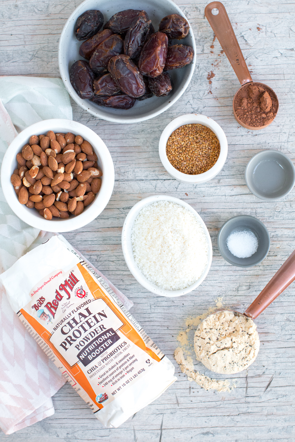 Simple ingredients that are big on flavor and texture make up the Date Almond Coconut Protein Balls