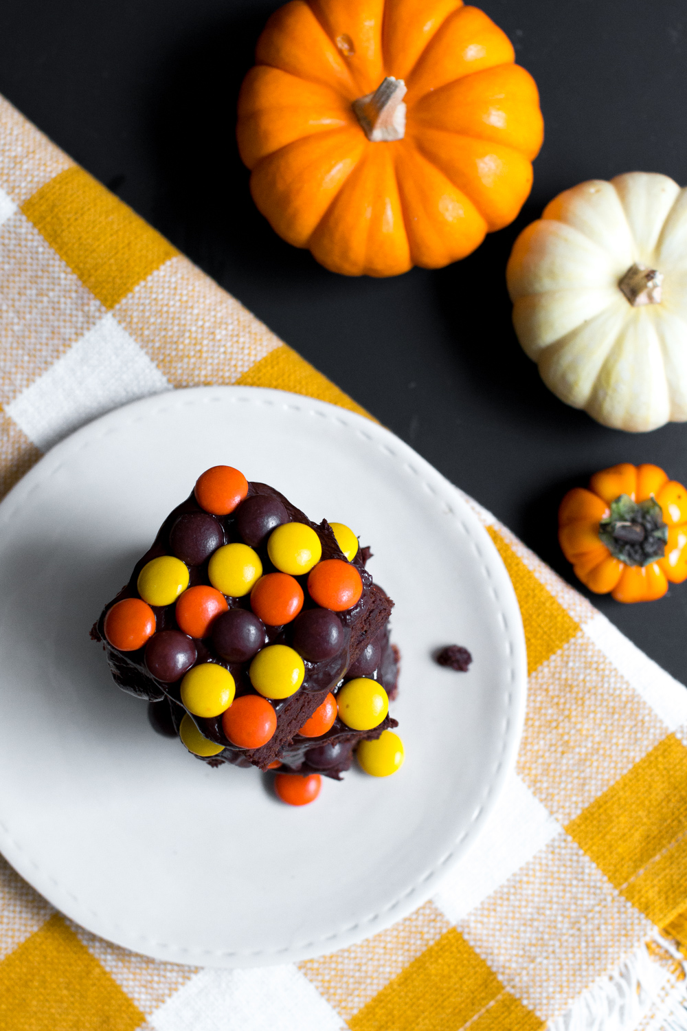 These Reese's Pieces Brownies scream Halloween!