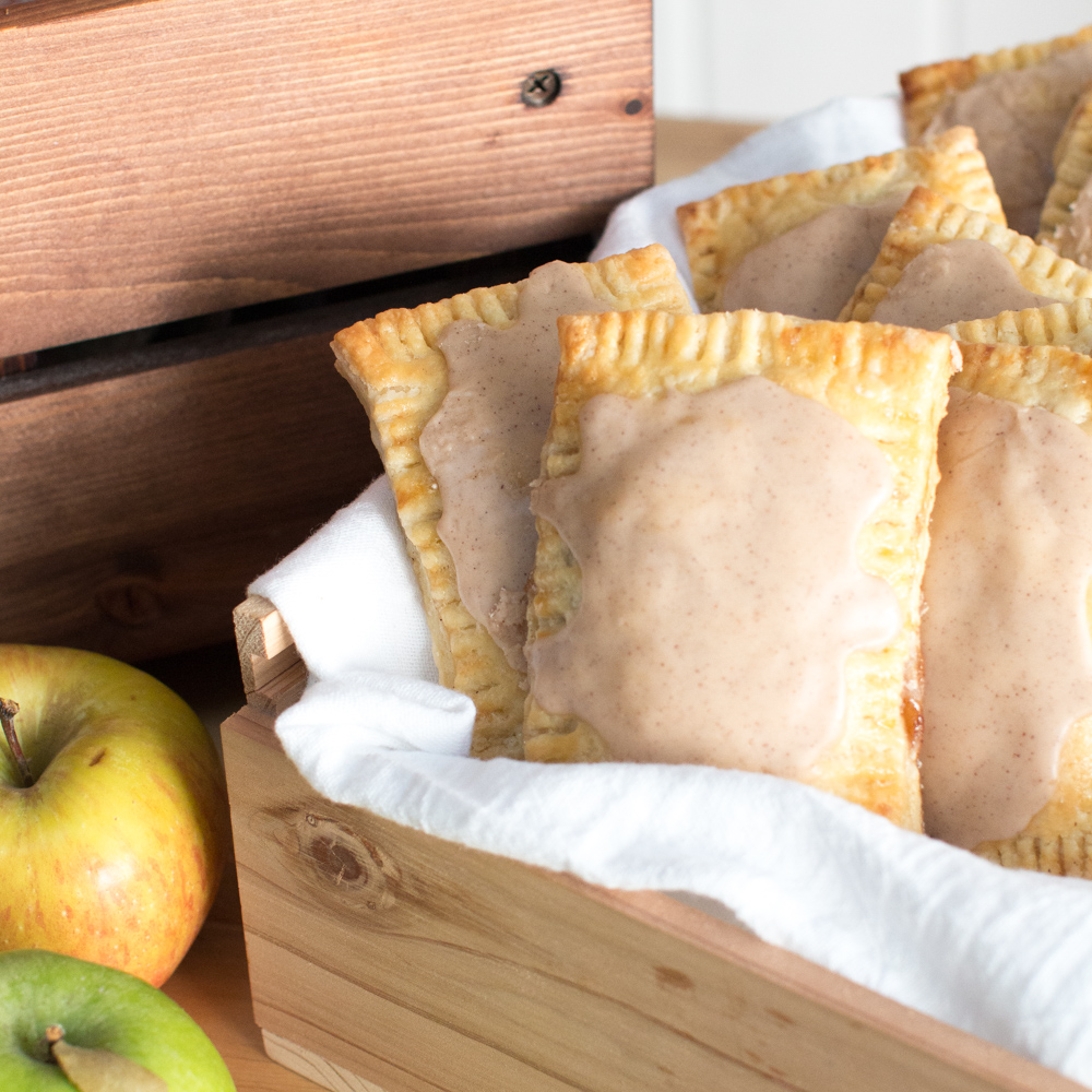Maple Glazed Apple Cinnamon Pop Tarts by Baking The Goods for PUBLIC Bikes