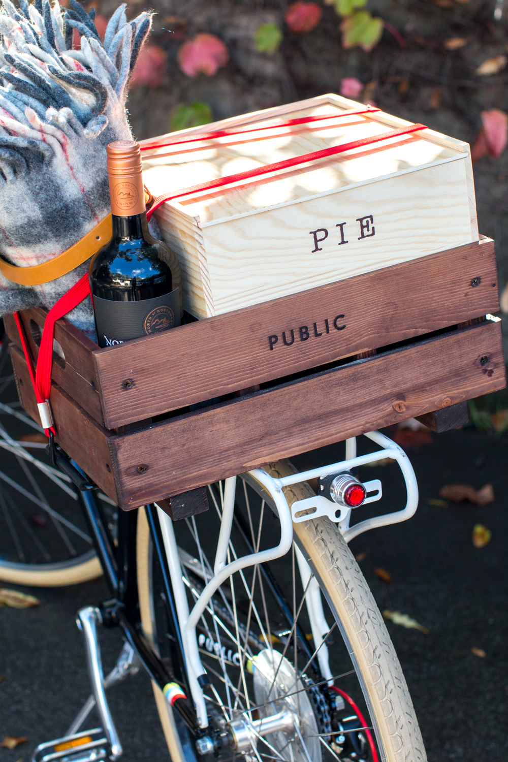 PUBLIC Wooden Bicycle Crate filled
