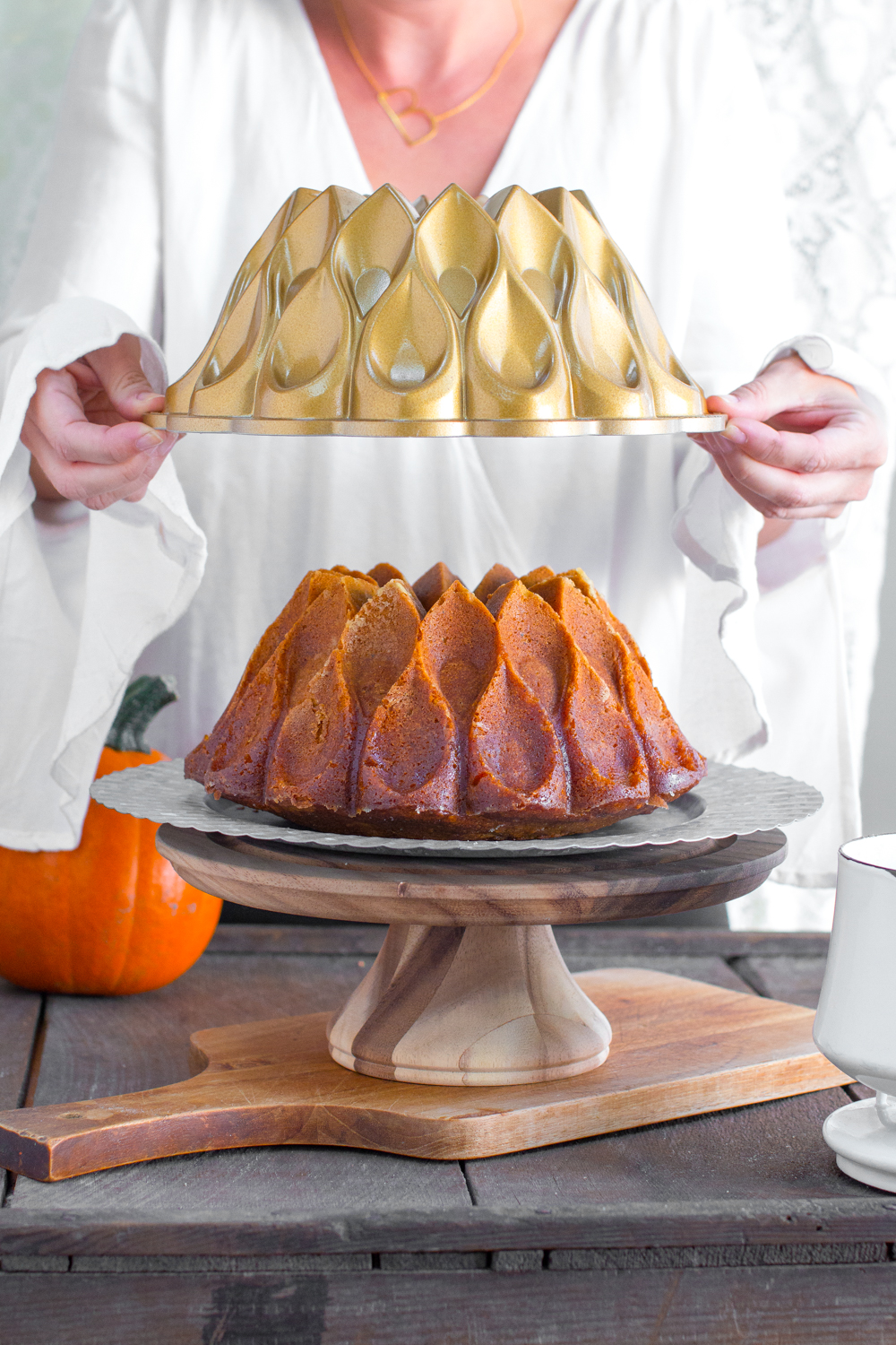 Unveiling the Pumpkin Spice Brown Butter Bourbon Bundt Cake.