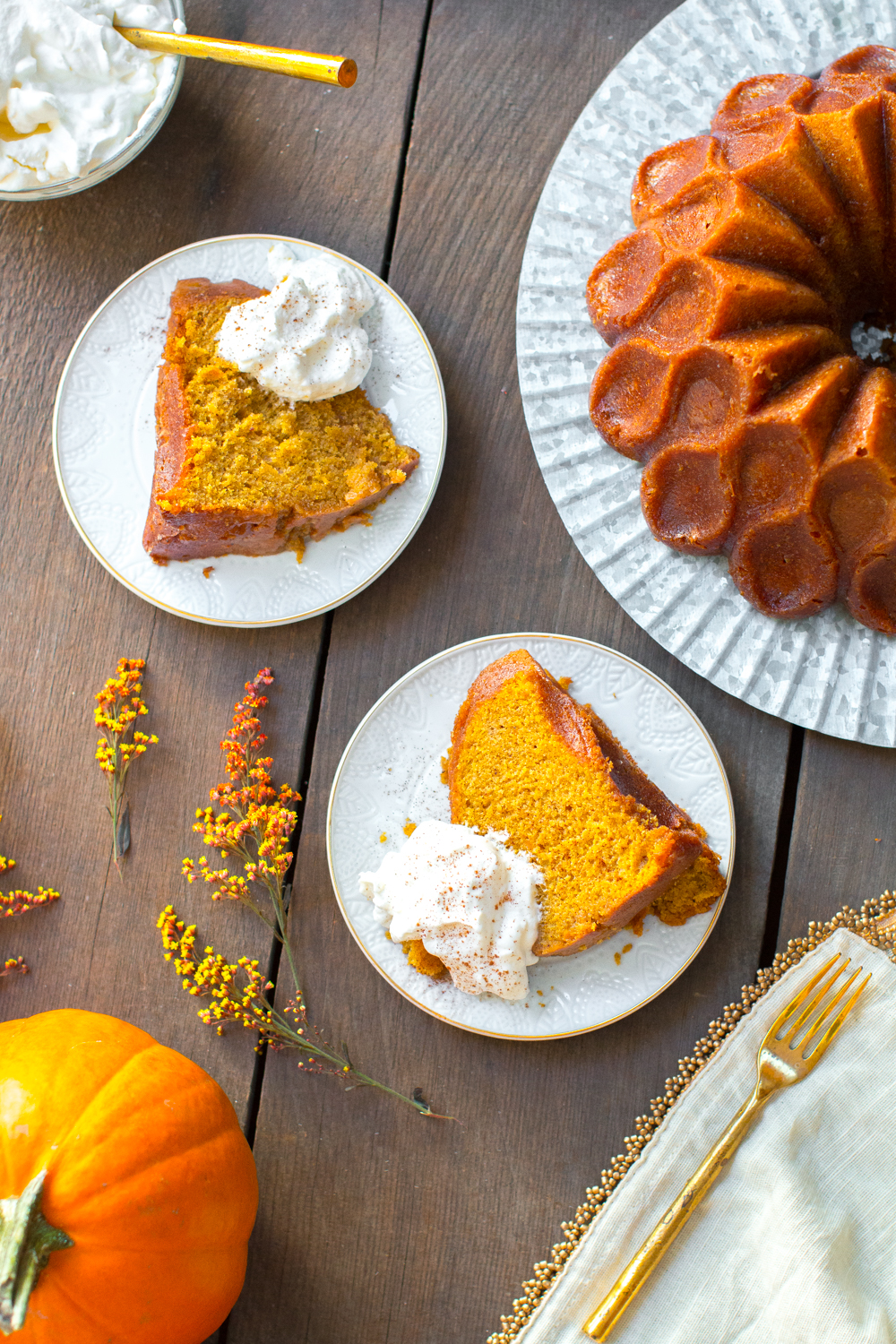 ... whipped cream to top that stunning Pumpkin Spice Brown Butter Bourbon