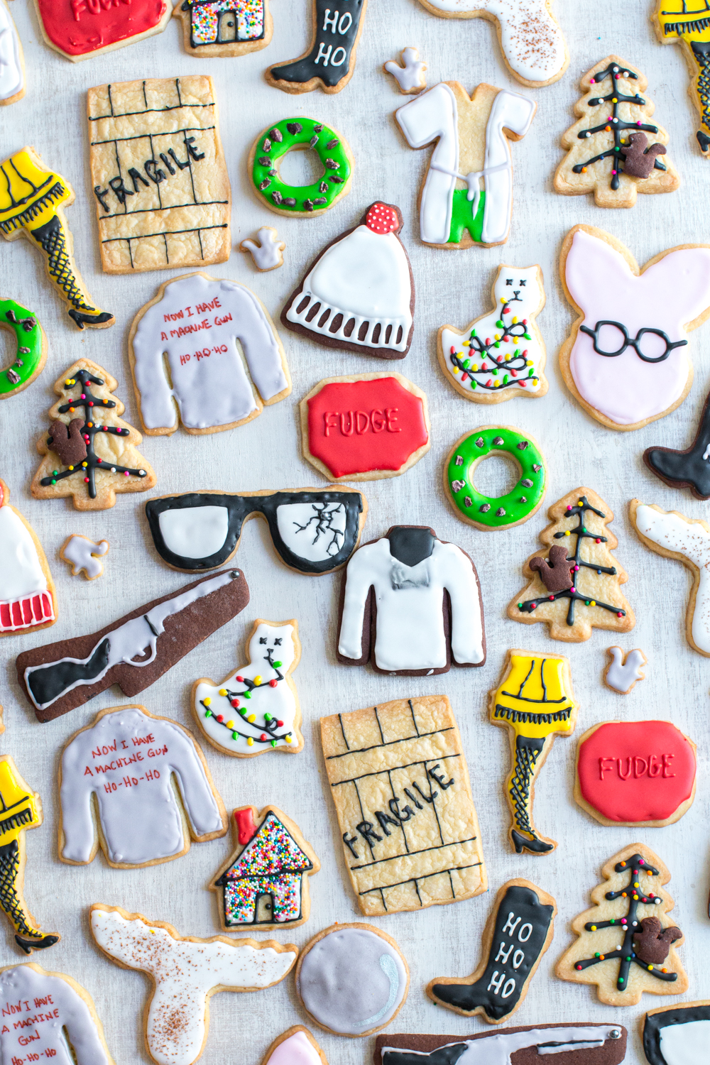 Christmas Movie Cookies; A Christmas Story, Christmas Vacation & Die Hard