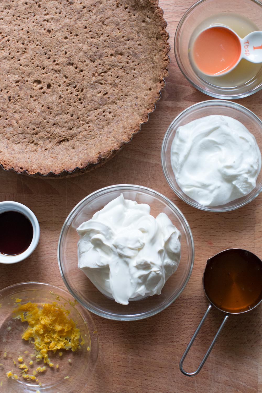 Meyer Lemon Ginger Molasses Tart filling