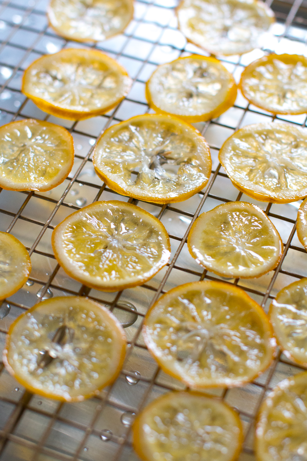 candied meyer lemon drying