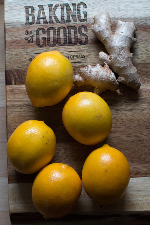 Meyer lemons and ginger