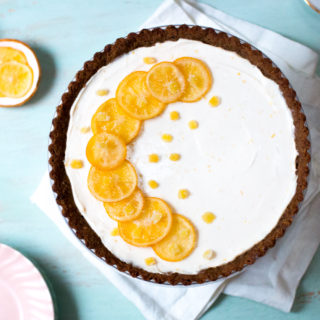 Meyer Lemon Ginger Molasses Tart.