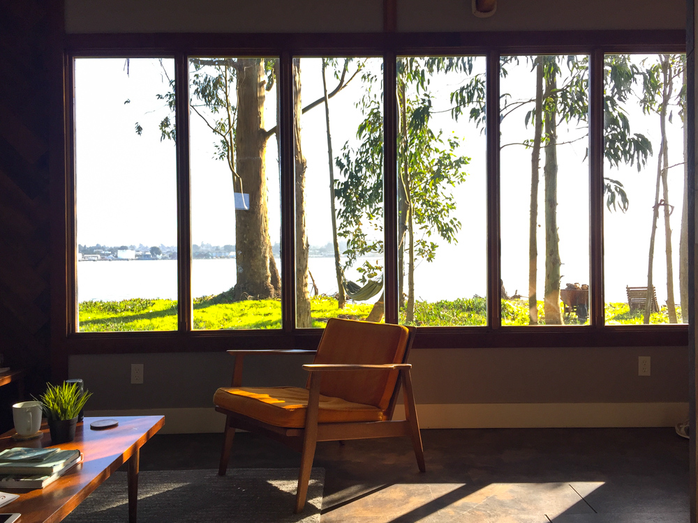 Mid Century Cabin at Oyster Beach Social Club in Eureka, CA.