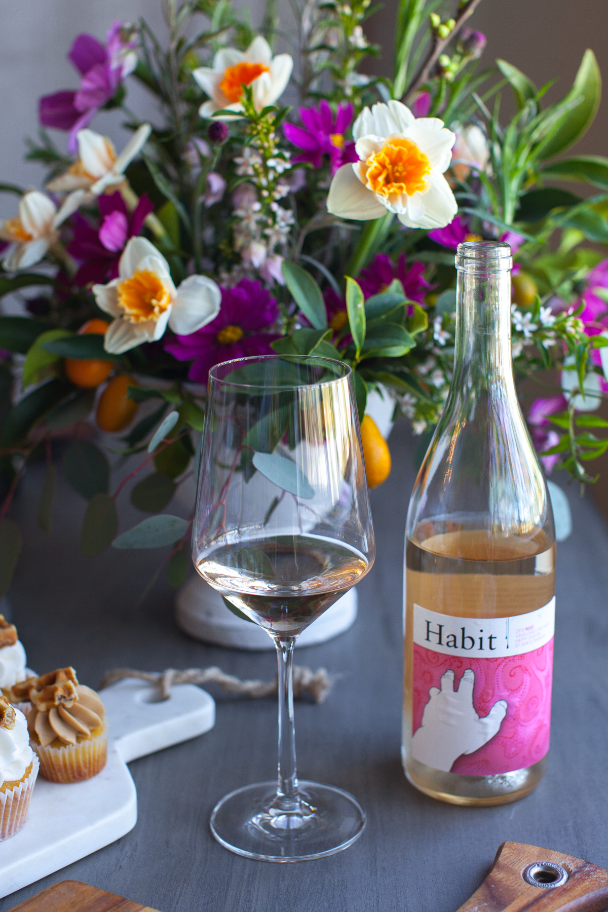 Wine selection by Wander & Wine. Flowers by Bright Inc.