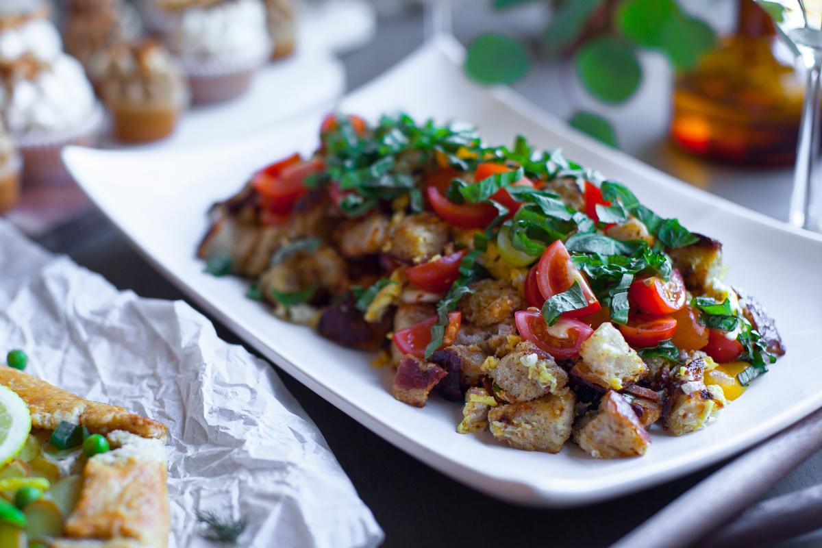 Robin's Breakfast Panzanella Salad.