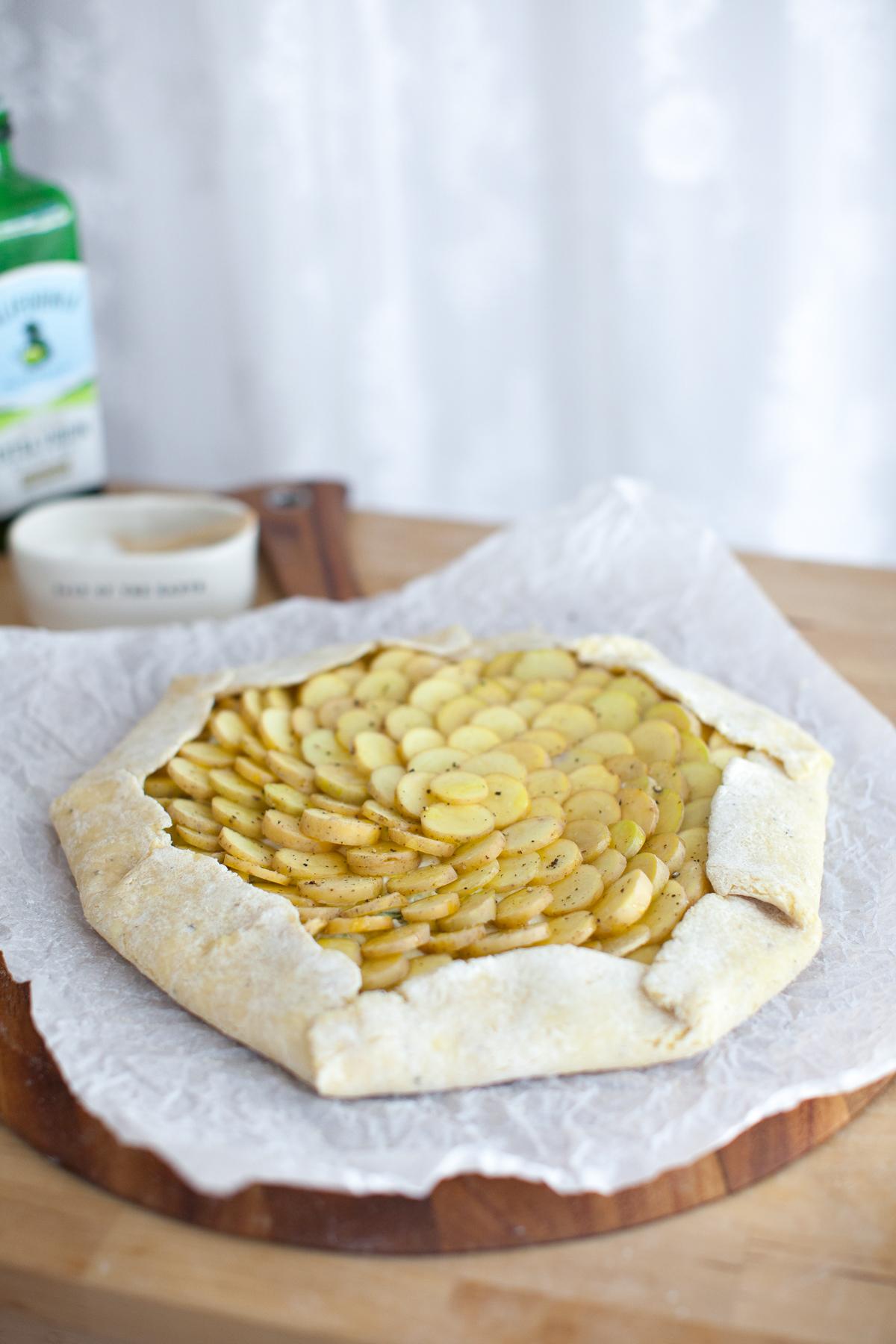 Ricotta, Potato & Spring Pea Galette