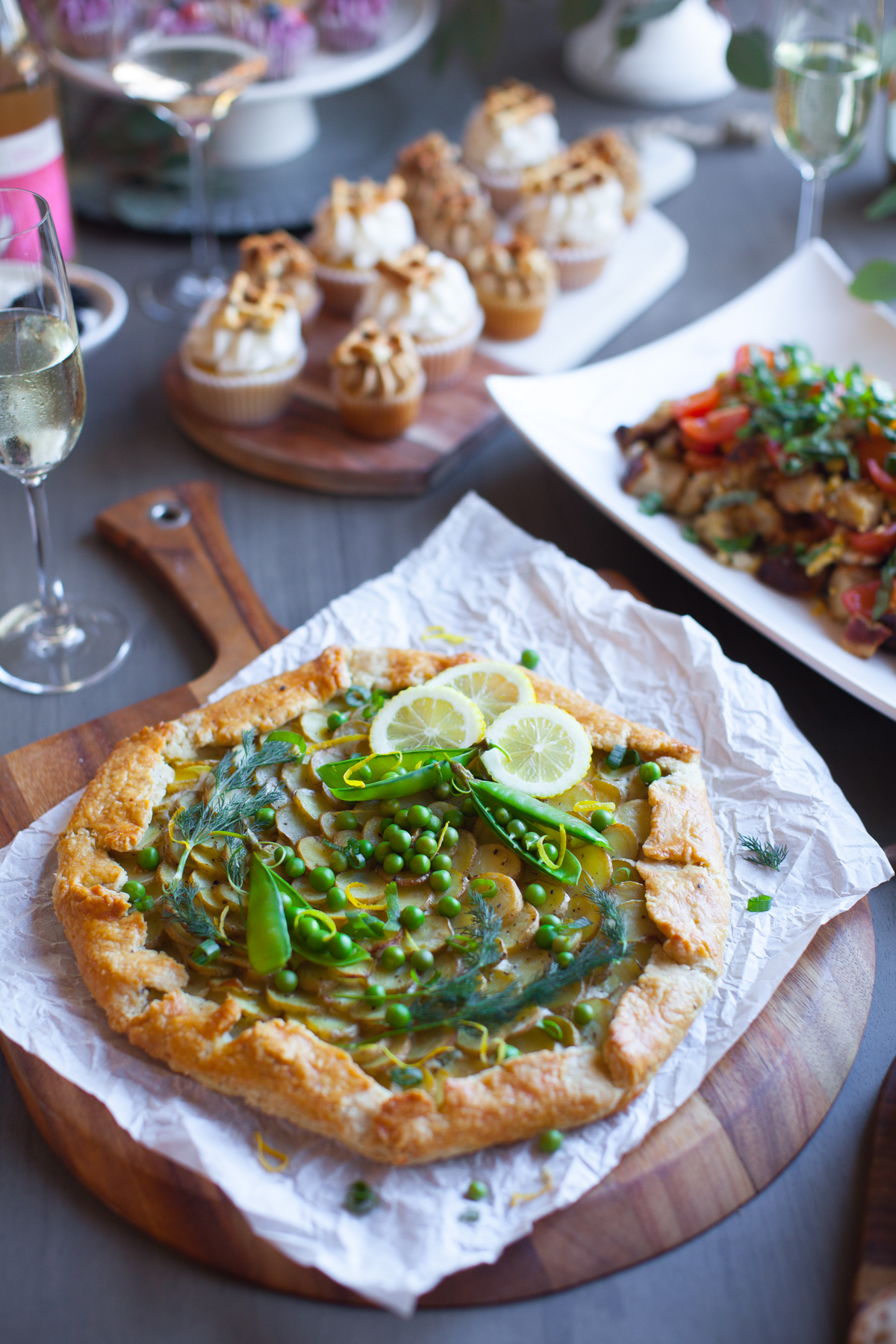 Ricotta, Potato & Spring Pea Galette at the Spring Fling Brunch.
