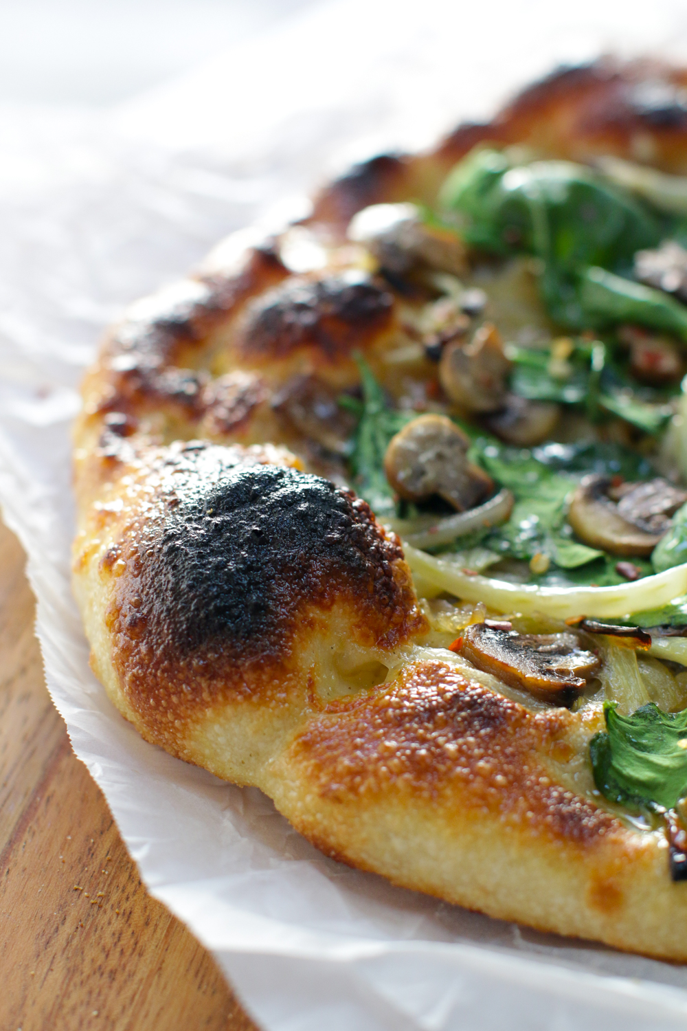 That charred up bubble, c'mon on people pay like $24 for that a fancy pizza place in San Francisco!