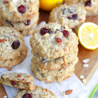 Lemon Cherry Almond Oat Cookies by Baking The Goods.