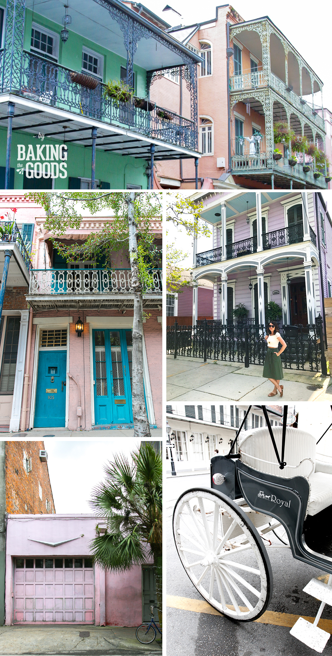The French Quarter in New Orleans.