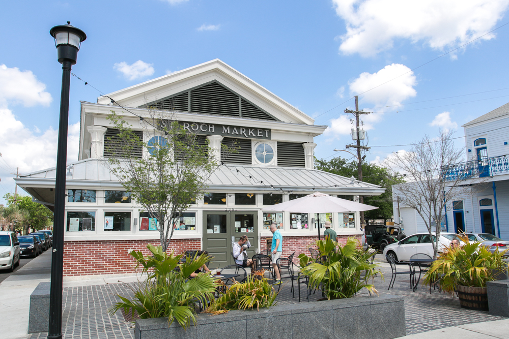 St. Roch Market food hall in the historic St. Roch neighborhood of New Orleans, LA. A foodie haven.
