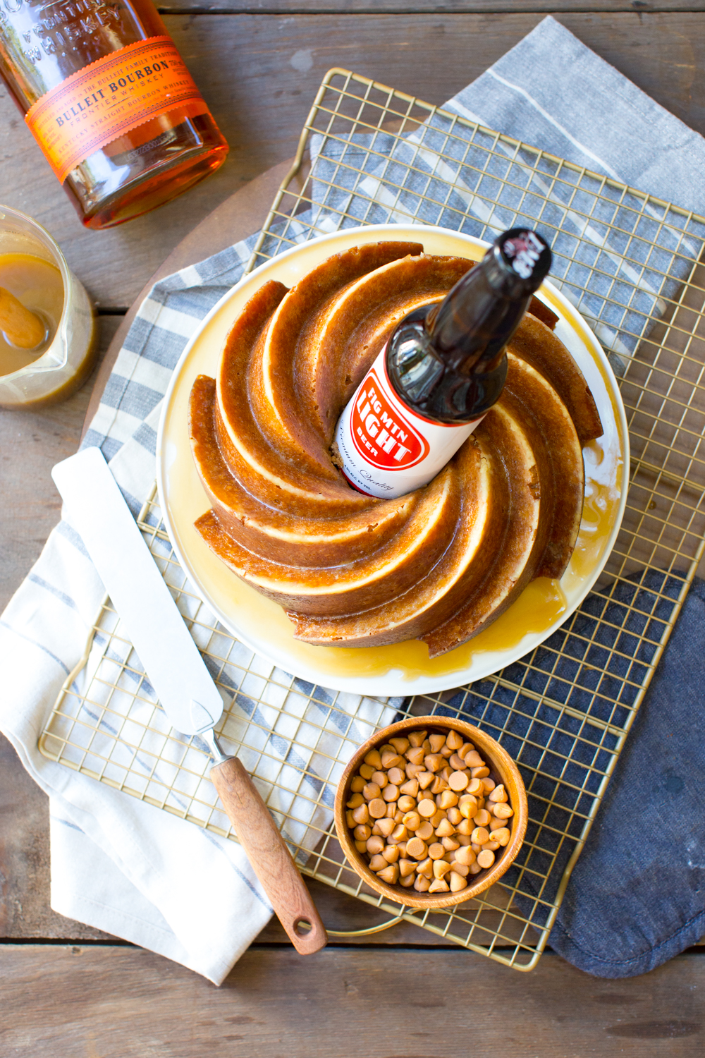 Seriously how fun is this One Bourbon, One Scotch, One Beer Bundt Cake?