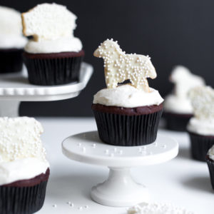 Black and White Animal Cookie Cupcakes