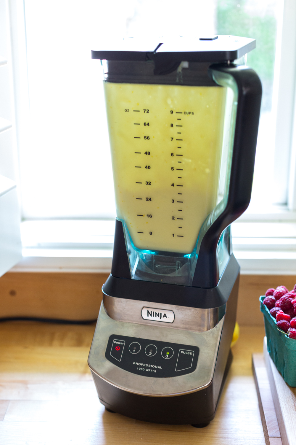 Whizzing the batter up in the blender helps to give the clafoutis a light and airy texture.