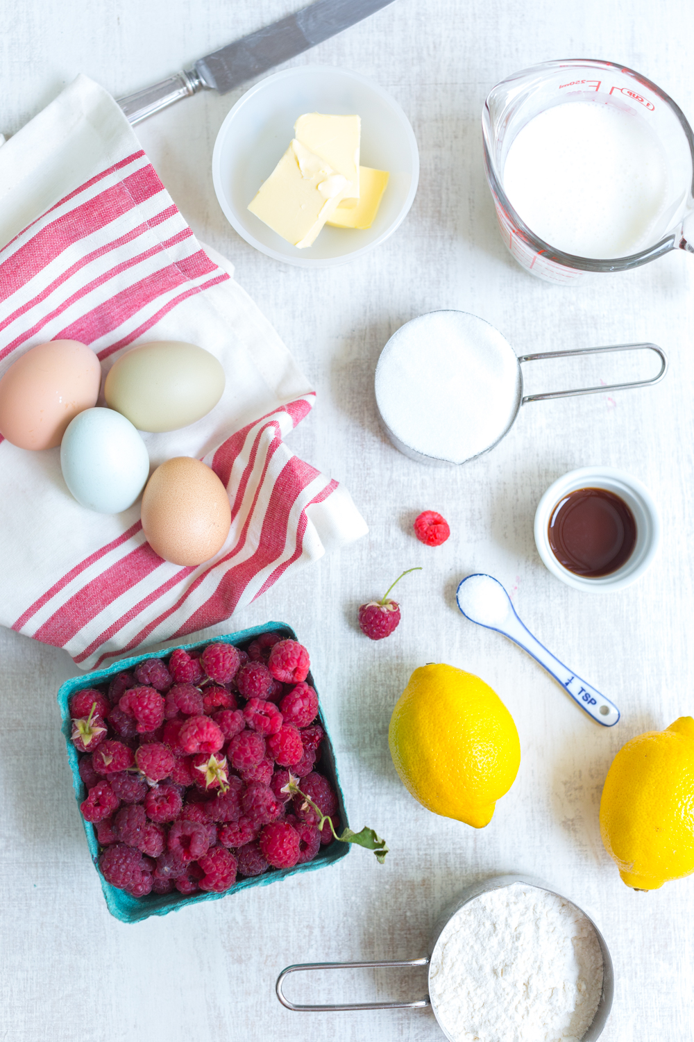 The best recipes are always simple recipes with high quality ingredients like these farm fresh eggs and freshly picked farm stand raspberries from Folded Hill