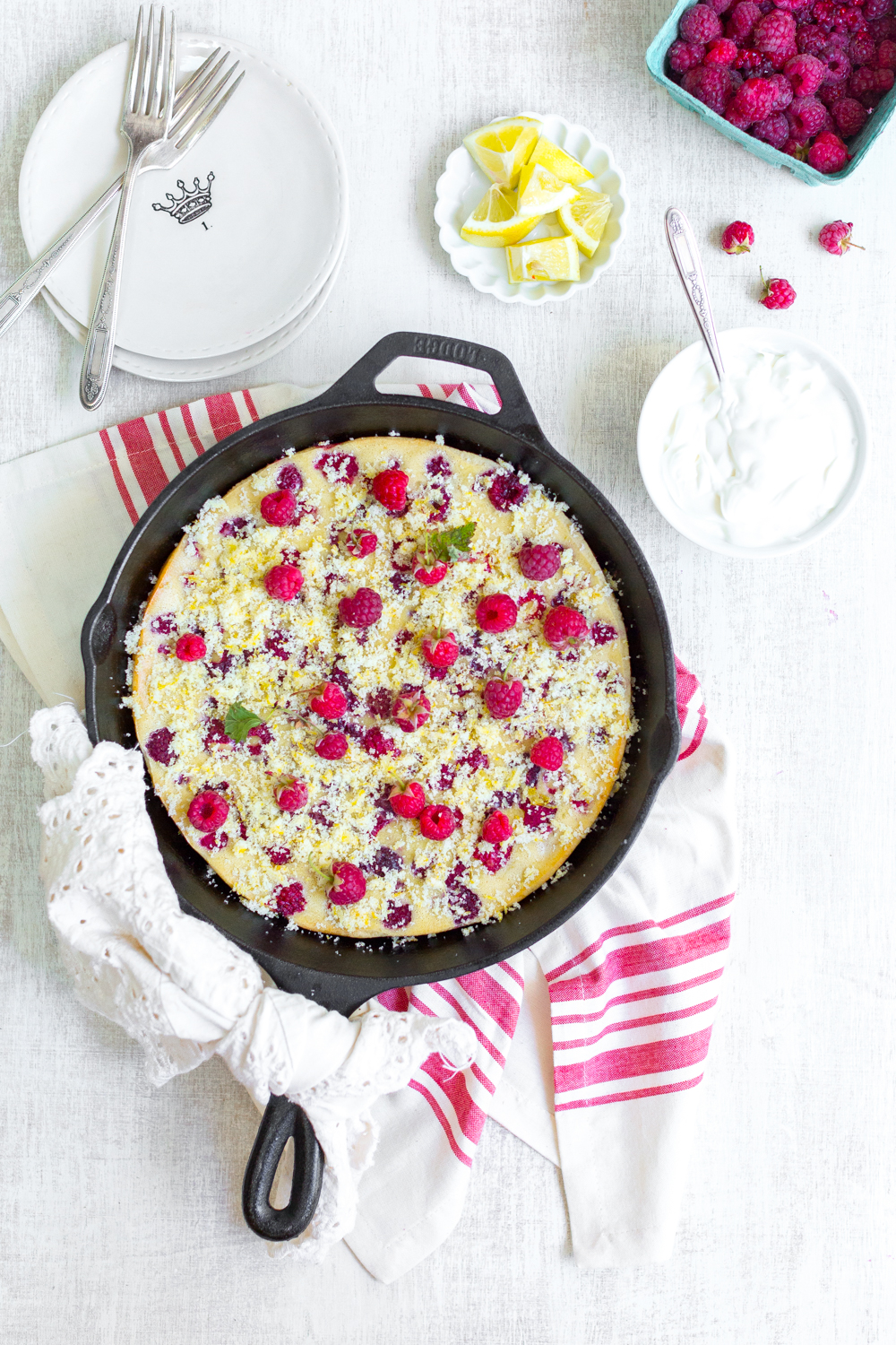 Pretty little Raspberry Buttermilk Clafoutis.