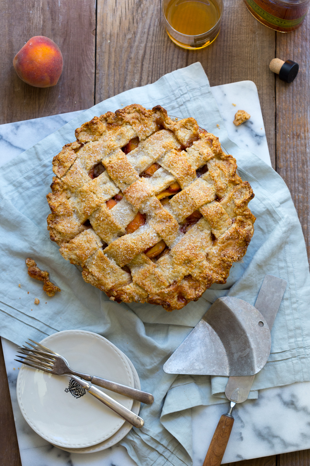 This Rye Rye Peach Pie is a bit more refined than classic peach pie.