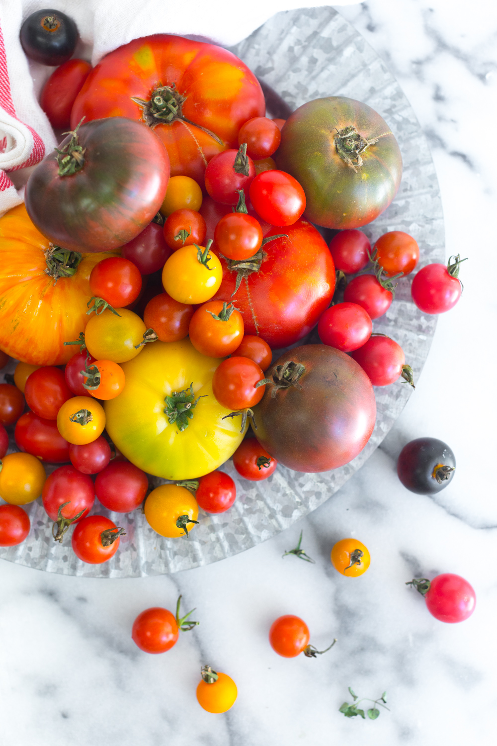 This glorious heap of heirloom tomatoes is all I want to eat.
