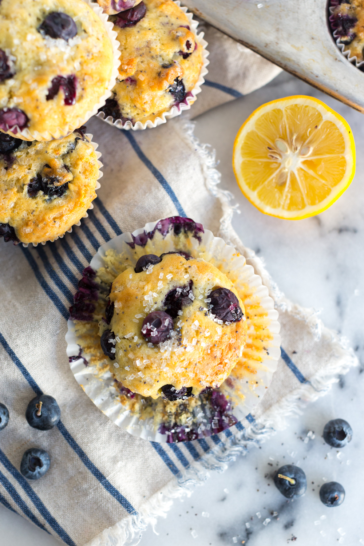 Blueberry Lemon Poppy Seed Muffins.