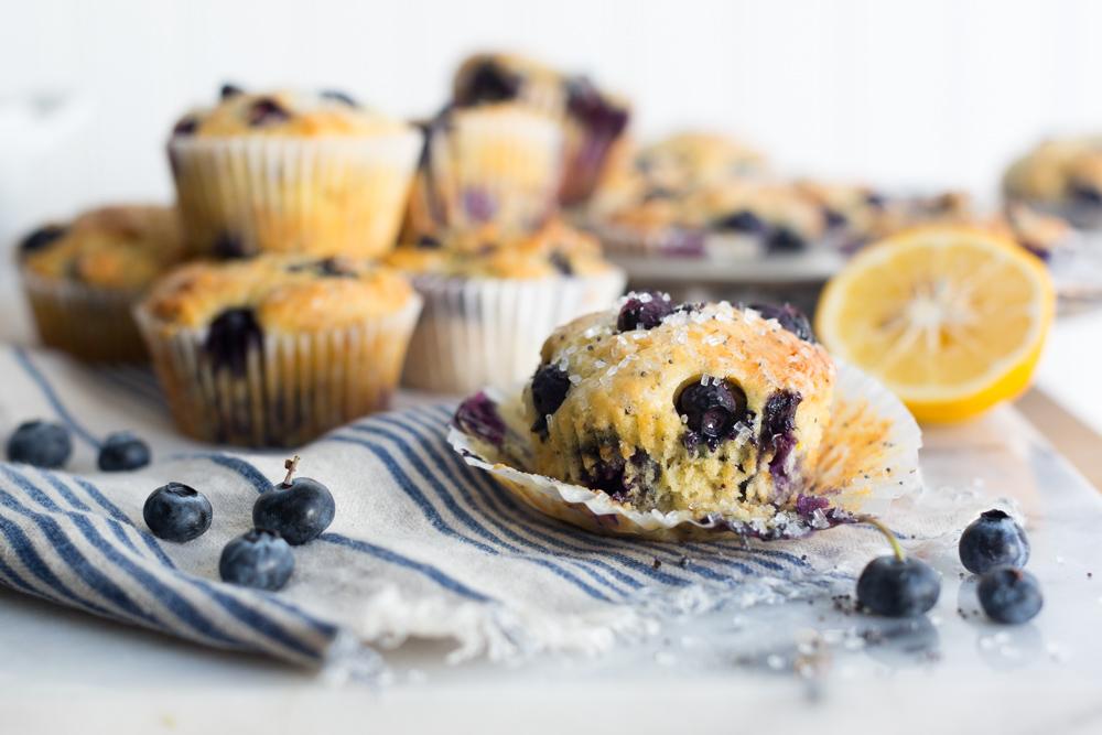 Blueberry Lemon Poppy Seed Muffin spread.
